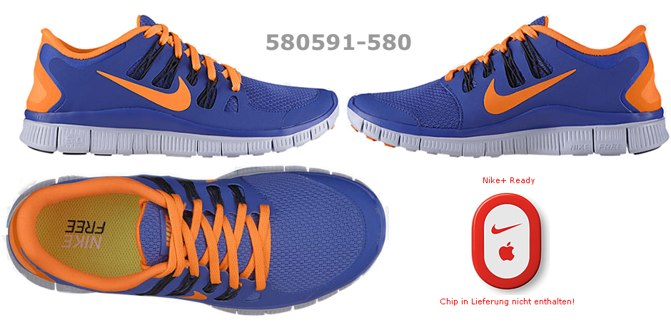 Nike Free 5.0 Damen Türkis Orange